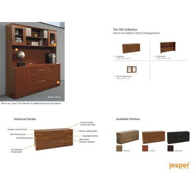 """Jesper Office 100 72"""" Double Bookcase"""