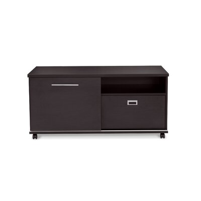 Jesper Office 500 Collection Professional Mobile Filing Cabinet with Sliding Door