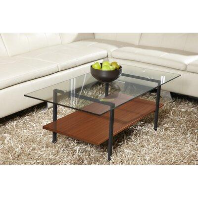 Jesper Office Jesper Office Modern Glass Coffee Table with Shelf