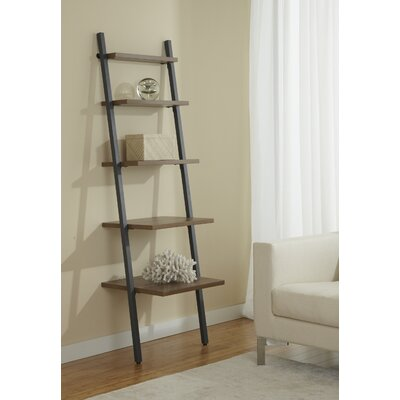 Jesper Office Parson 5 Tier Ladder Narrow Bookcase