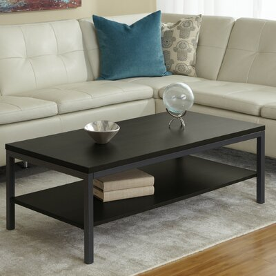 Jesper Office Parson Coffee Table with Shelf