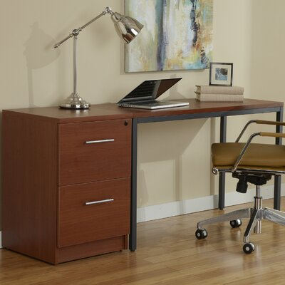 Jesper Office Parson Narrow WritingDesk with File Cabinet