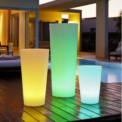 Smart & Green Tango Luminous Round Pot Planter