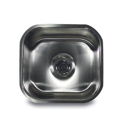 "Nantucket Sinks 13"" x 13.75"" Square Undermount Bar Sink"