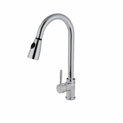Gooseneck Sink Faucet : Nantucket Sinks Single Handle Pull Down Gooseneck Kitchen Faucet