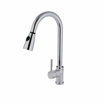 Nantucket Sinks Single Handle Pull Down Gooseneck Kitchen Faucet