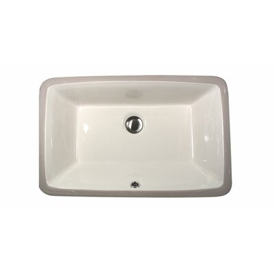 Nantucket Sinks Rectangular Ceramic Undermount Bathroom Sink
