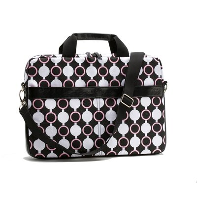 Nuo Kailo Chic Circles Slim Mod Laptop Briefcase