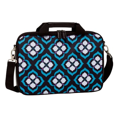 "Nuo Tech Chloe Dao 15.6""  Lotus Laptop Attache in Black/White/Blue/Purple"