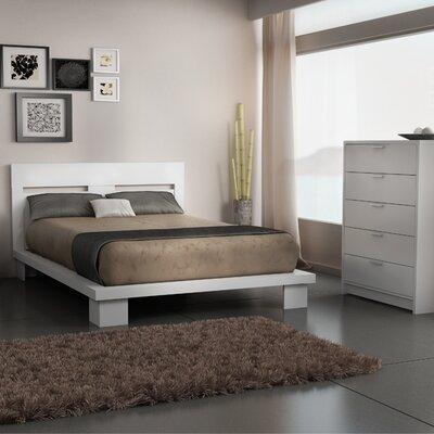 Stellar Home Furniture Cosmopolis Queen Platform Bedroom Collection