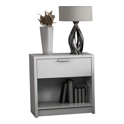 Stellar Home Furniture Eva 1 Drawer Nightstand