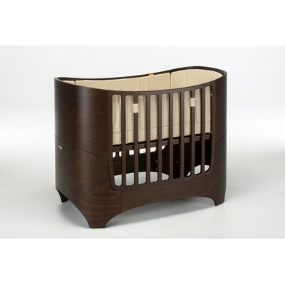 Leander Crib in Walnut with Mattress