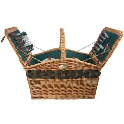 Decadence Picnic Basket in Hunter Green Lining