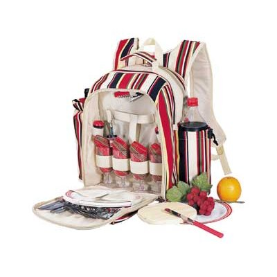 Caribbean Stripe Picnic Backpack in Multi Stripes