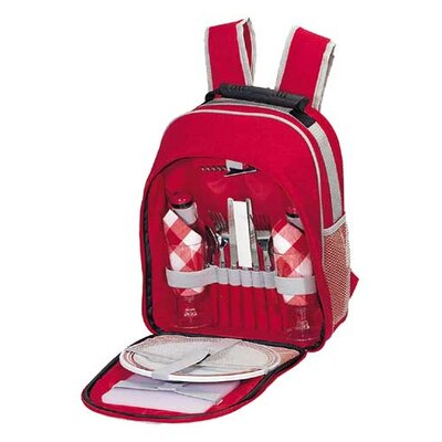 Scarlet Picnic Backpack in Red