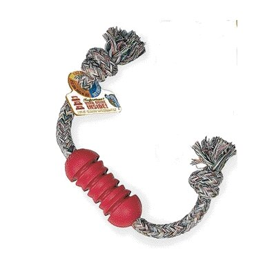 KONG Dental Stick with Rope Dog Toy