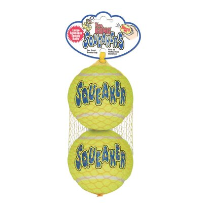 KONG Large Squeaker Tennis Balls Dog Toy