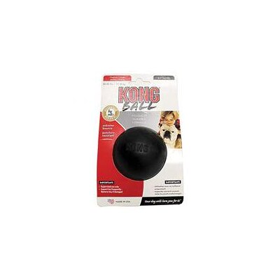 Extreme Ball Dog Toy in Black