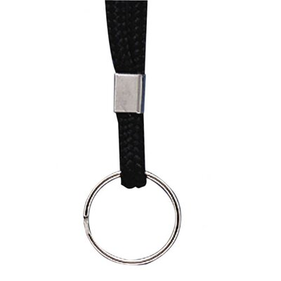 "Baumgartens Standard Lanyard, With Ring, 36"" Long, Black"