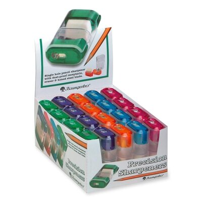 "Baumgartens Sharpener w/ Eraser, 2-5/8"", Assorted"