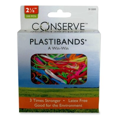 "Baumgartens PlastiBands, Size 2-1/8"", 200/BX, Assorted Colors"
