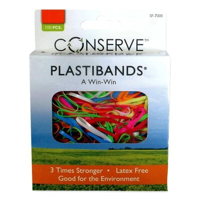 Baumgartens PlastiBands, Assorted Sizes, 100/BX, Assorted