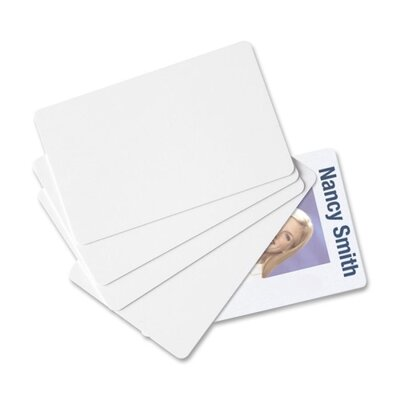 Baumgartens PVC ID Card, CR80 Size, 30 mil Thick, 2-1/8&quot;x3-3/8&quot;, 100 per Pack, White
