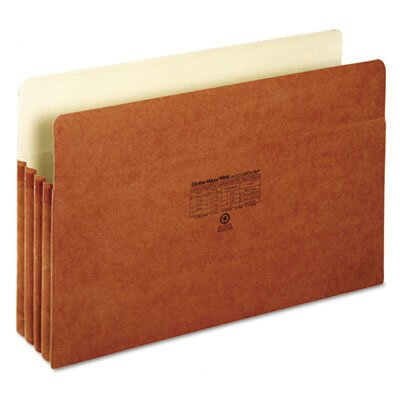 Globe Weis 3 in Expansion Accordion Pocket, Straight, Manila/Redrope, Letter, Brown