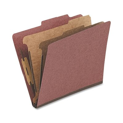 Globe Weis Classification Folder, 1 Partition, Letter, Red
