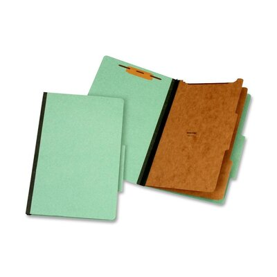 Globe Weis Classification Folder, 2 Partitions, Legal, Green
