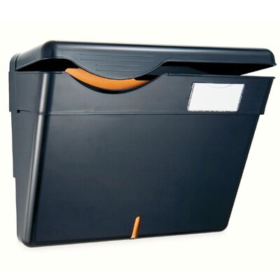Officemate International Corp Wall File, Security, Recycled, 1 Pocket, Black