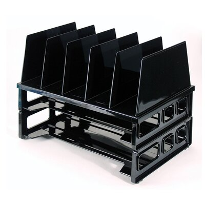"Officemate International Corp Tray And Sorter System, 13-1/2""x9-1/8""x10-1/4, Black"
