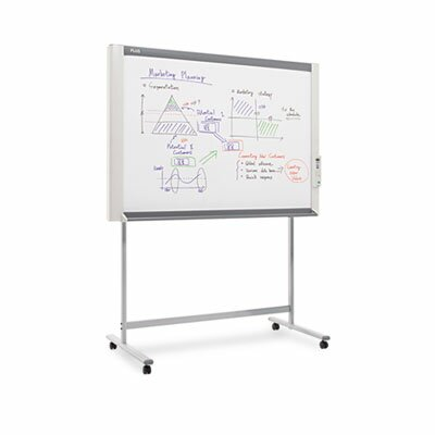 "Plus M-18S Electronic Copy 3' 4"" x  4' 10"" Whiteboard"