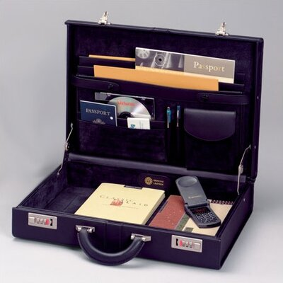 Top Grain Extended Edge Leather Attaché Case