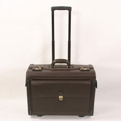 Cowhide Leather Wheeled Pilot / Computer Case