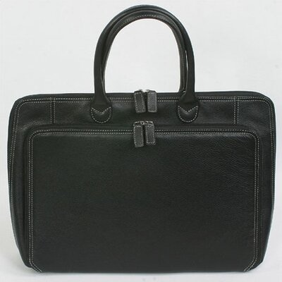 Black Full Grain Cowhide Leather Briefcase