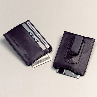 High Polished Cowhide Aniline Leather Credit Card Money Clip