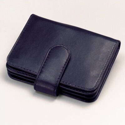 Cowhide Nappa Leather Two Fold Business Card Case
