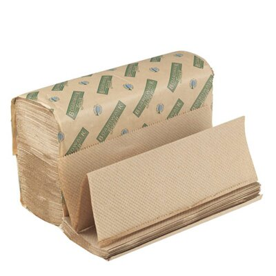 Boardwalk Green Folded Towel in Natural Brown