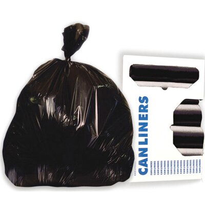 Boardwalk 56-Gallon Super-Heavy Grade Can Liner in Black