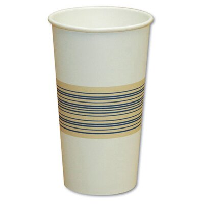 Boardwalk 8 oz Paper Hot Cup in Blue and Tan