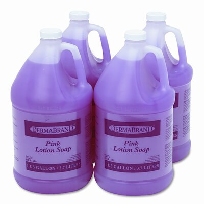 Dermabrand™ Mild Cleansing Pink Lotion Soap, Unscented Liquid, 1gal Bottle, 4/ctn