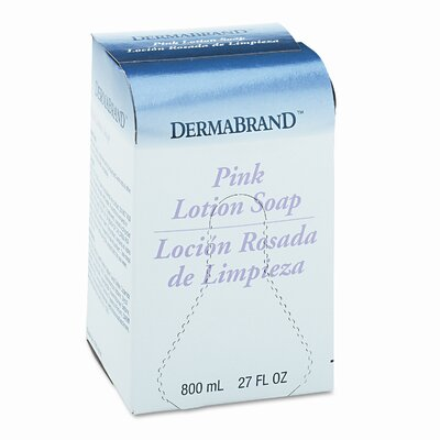 Dermabrand™ Mild Cleansing Pink Lotion Soap, Unscented Liquid, 800ml Box, 12/ctn