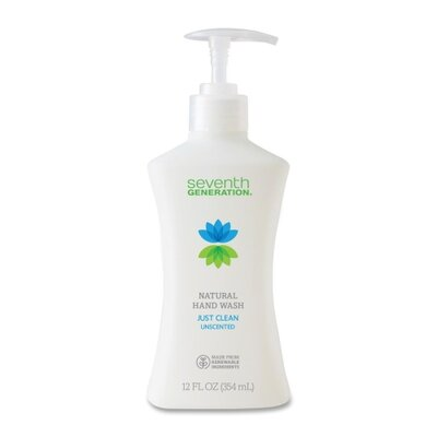 Seventh Generation Hand Soap, Natural, Non-Toxic, 12oz., Pump Bottle Unscented