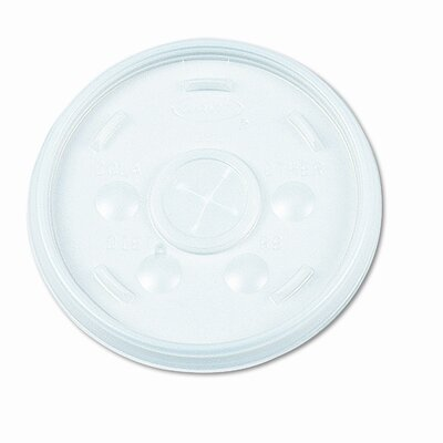 Dart Container Corp. Plastic Lids, for 16-oz. Hot/Cold Foam Cups, Slip-Thru Lid, White, 1000/CT