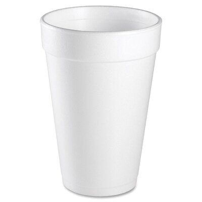 Dart Container Corp. 16 oz Foam Cups 25/Bag in White