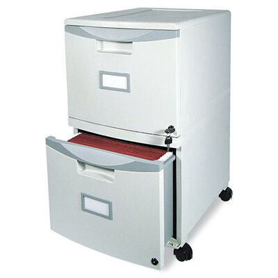 <strong>Storex</strong> Two-Drawer Mobile Filing Cabinet