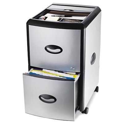 Storex 2-Drawer Mobile Filling Cabinet