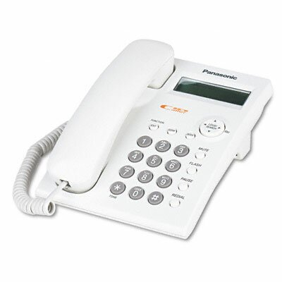 One-Line Desk/Wall Phone, Corded, White