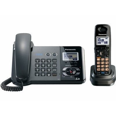 Panasonic® 2-Line System Corded/Cordless Phone Set